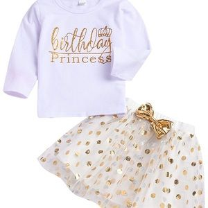 Other - 4T Birthday Girl 2 piece Outfit